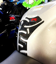 Load image into Gallery viewer, Fit Suzuki GSX-R 750 GSXR Authentic Carbon Fiber Tank Protector Pad Sticker trim