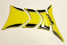 Load image into Gallery viewer, Yamaha R6 Yellow +Black tank Protector pad Decal Sticker trim guard