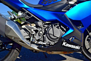 Fit Kawasaki Ninja 400 Real CARBON FIBER sides lower fairings cover trim kit
