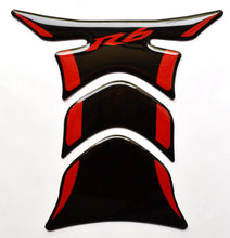 Load image into Gallery viewer, Piano Black +RED tank Protector pad Decal Sticker trim fits Yamaha R6 YZF-R6 R-6