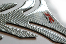 Load image into Gallery viewer, Suzuki GSX-R  Silver real Carbon Fiber Tank Protector Pad trim guard sticker
