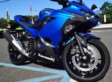 Load image into Gallery viewer, Fit Kawasaki Ninja 400 Real CARBON FIBER sides fairing blinker cover trim kit