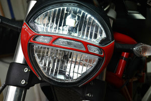 Fit DUCATI Monster 696 795 796 1100EVO Front Light Trim RED Pad Protector decal