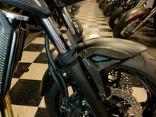 Load image into Gallery viewer, Real carbon fiber Fit Kawasaki Z650 front mudguard fender Trim KIT overlay