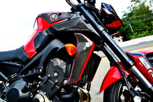 Load image into Gallery viewer, Fits Yamaha FZ09  MT09 real carbon fiber sides air wing fairing protector tank