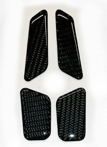 Fit Yamaha FZ10 MT-10 real carbon fiber sides fairings air inlets cover pad trim
