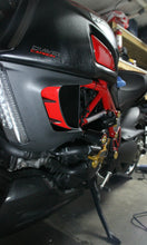 Load image into Gallery viewer, Fit Ducati DIAVEL Glossy Red sides Air inlets trim pad protector stickers trim