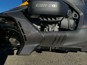 Fit Can-Am RYKER BRP 2019 Dry CARBON FIBER Rocker Panel Covers Protector  trim