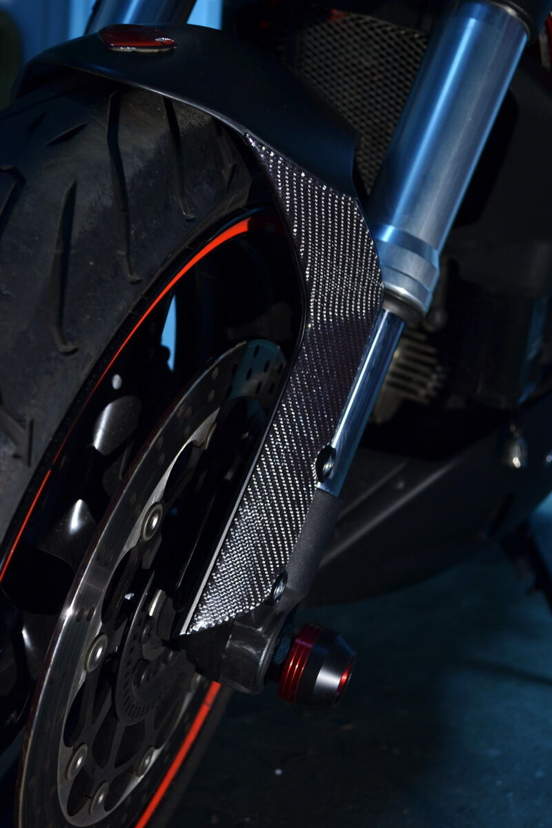 Fit Ducati Monster 696 796 1100 real carbon fiber Front Mudguard pad protector