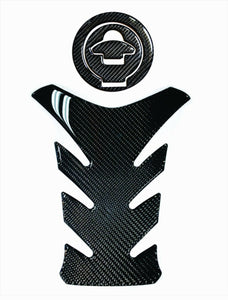 Fit Ducati Monster 1200 Real Carbon Fiber tank Pad Protector & gas cap trim kit