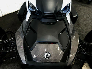 Fit Can-Am RYKER BRP 2019 Dry CARBON FIBER Front fairing Accent trim kit 4pcs
