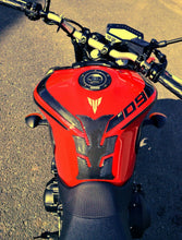 Load image into Gallery viewer, Yamaha Real Carbon fiber +red Gas Fuel Cap Tank Sticke FJR1300 YZF-R6 RJ11 RN09