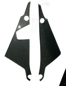 Real carbon fiber Fit Kawasaki Z650 sides brake liquid tank panel pads Trim