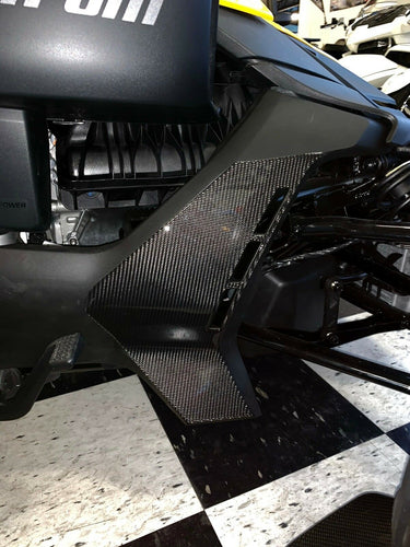 Fit Can-Am RYKER BRP 2019 Real 3k twill dry CARBON FIBER Lower panel fairing protector trim kit