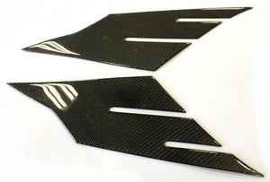 Real carbon fiber tail fairing trim pad Fit Yamaha YZF-R6 tank Protector set
