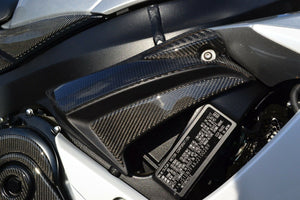 Real Carbon Fiber sides air inlets duct covers trim fit Suzuki GSX-R 600