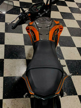 Load image into Gallery viewer, Fit Kawasaki Z125 Pro Dry CARBON FIBER  tank pad protector only trim kit