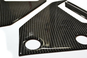 Fit Honda Grom 125 Real CARBON FIBER Side Air Duct Covers trim protector tank