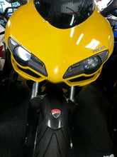 Load image into Gallery viewer, Fit Ducati 1098 dry Carbon Fiber front light trim eyeline eyelids Pad trim kit