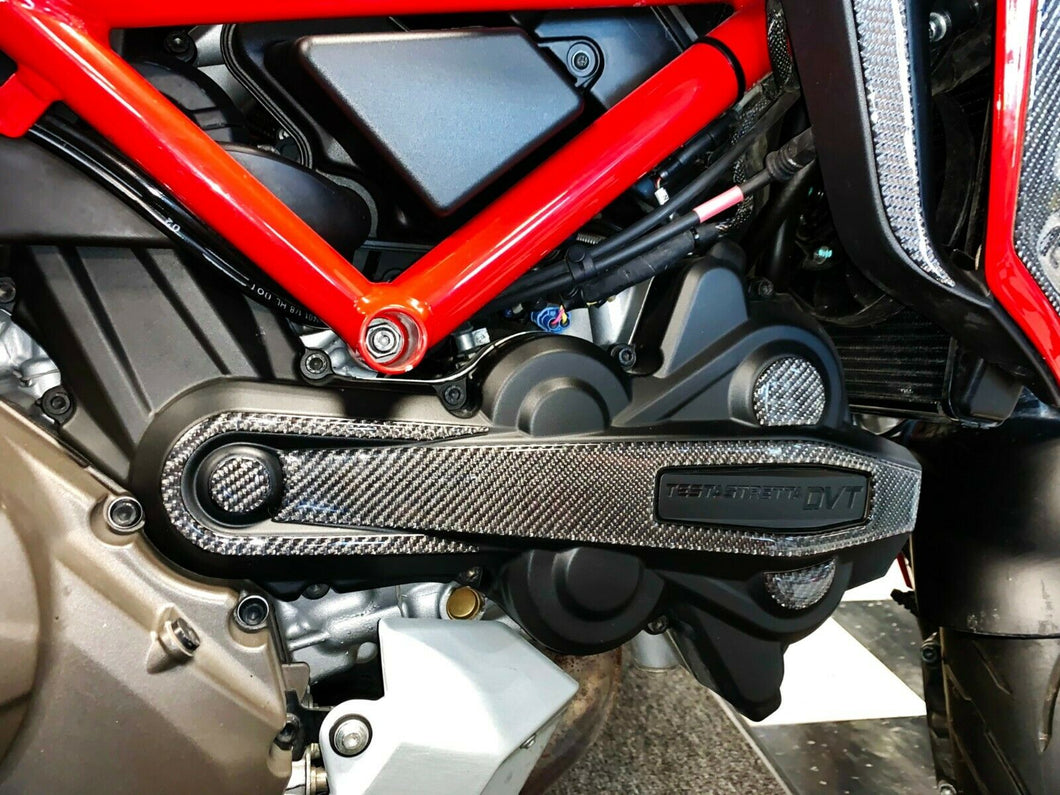Fit Ducati Multistrada 1200 CARBON FIBER Cam Belt Engine Cover Fairing overlay