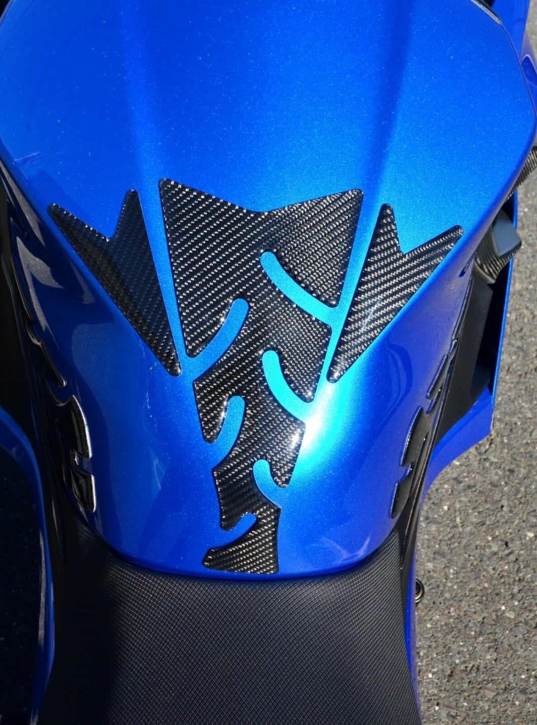 Fit Kawasaki Ninja 400 2018 Real Carbon Fiber tank Protector pad sticker trim