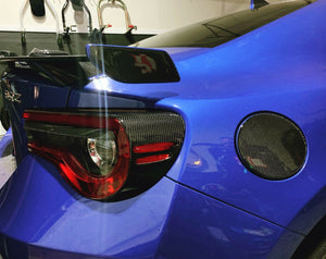 Real Carbon Fiber rear tail light trim kit Fit Subaru BRZ Toyota 86