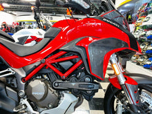 Load image into Gallery viewer, Fit Ducati Multistrada 1200 dry CARBON FIBER sides panel Fairing overlay trim