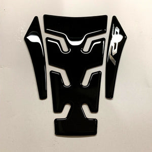 Fit Yamaha R6 YZF-R6 Piano Black tank Protector pad Decal Sticker trim