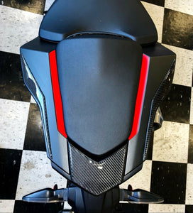 Fits Honda CBR1000RR 2017 real dry 3k twill carbon fiber tail light fairing KIT trim pad