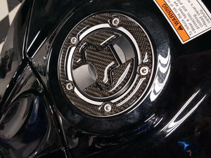 Suzuki GSXR Real Carbon Fiber Tank Protector Pad + Gas cap Trim sticker guard