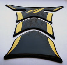 Load image into Gallery viewer, Fit Yamaha YZF R1 Piano Black +matt Gold tank Protector pad Decal Sticker trim