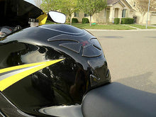 Load image into Gallery viewer, Fit Suzuki Hayabusa Carbon Fiber +Crome Tank Protector Pad + Cap filler cover