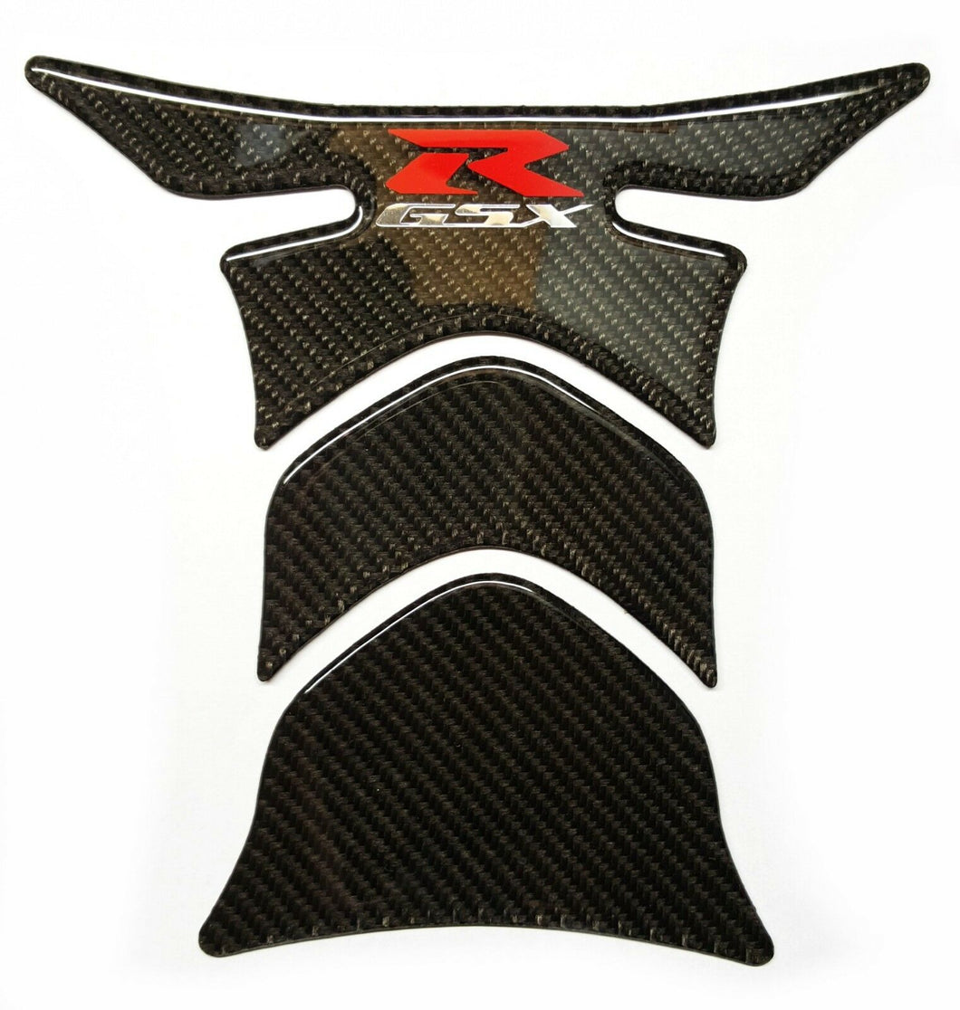 Suzuki GSX-R Real Ultra shiny Carbon Fiber tank pad Protector trim sticker