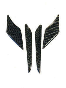 Real carbon fiber Fit Yamaha MT07 sides tank air inlets cover pad Trim cover