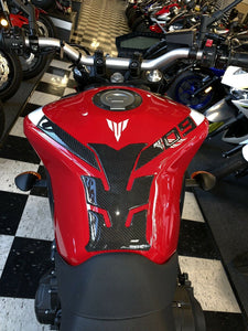 Real Carbon Fiber Tank Protector Pad Sticker with pads Fit Yamaha MT09 FZ09