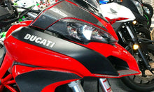 Load image into Gallery viewer, Fit Ducati Multistrada 1200 dry CARBON FIBER Head light fairing  overlay trim