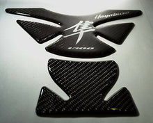 Load image into Gallery viewer, Fits Suzuki Hayabusa Real Carbon Fiber +Crome Tank Protector Pad Sticker Trim