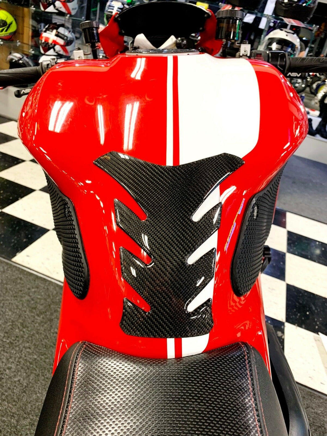 Fit Ducati Monster 1200 Real Carbon Fiber tank Pad Protector sticker trim kit