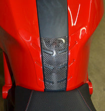 Load image into Gallery viewer, Fit Ducati Monster Red & Real Carbon Fiber tank Pad Protector sticker trim