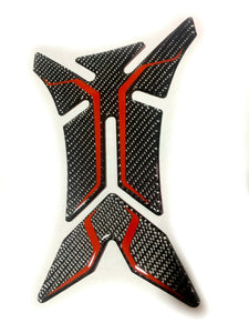 fit Yamaha real dry carbon fiber + RED tank Protector pad Decal Sticker decal