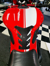 Load image into Gallery viewer, Fit Ducati Monster 1200 Real Carbon Fiber tank Pad Protector & gas cap trim kit