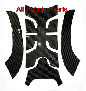 Fit Can-Am RYKER BRP 2019 Real CARBON FIBER Tank protector trim pad +sides trim