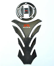 Load image into Gallery viewer, Suzuki GSX-R GSXR 1000 600 Real Carbon Fiber Tank Protector Pad +Gas cap Sticker