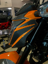 Load image into Gallery viewer, Fit Kawasaki Z125 Pro Dry CARBON FIBER Headlight cover fairing trim kit insert