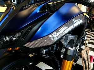 Fit Yamaha Niken GT real Dry carbon fiber front sides panel fairing pad trim kit