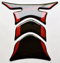 Load image into Gallery viewer, Fit Yamaha YZF-R6 Piano Black +RED tank Protector pad Decal Sticker trim guard