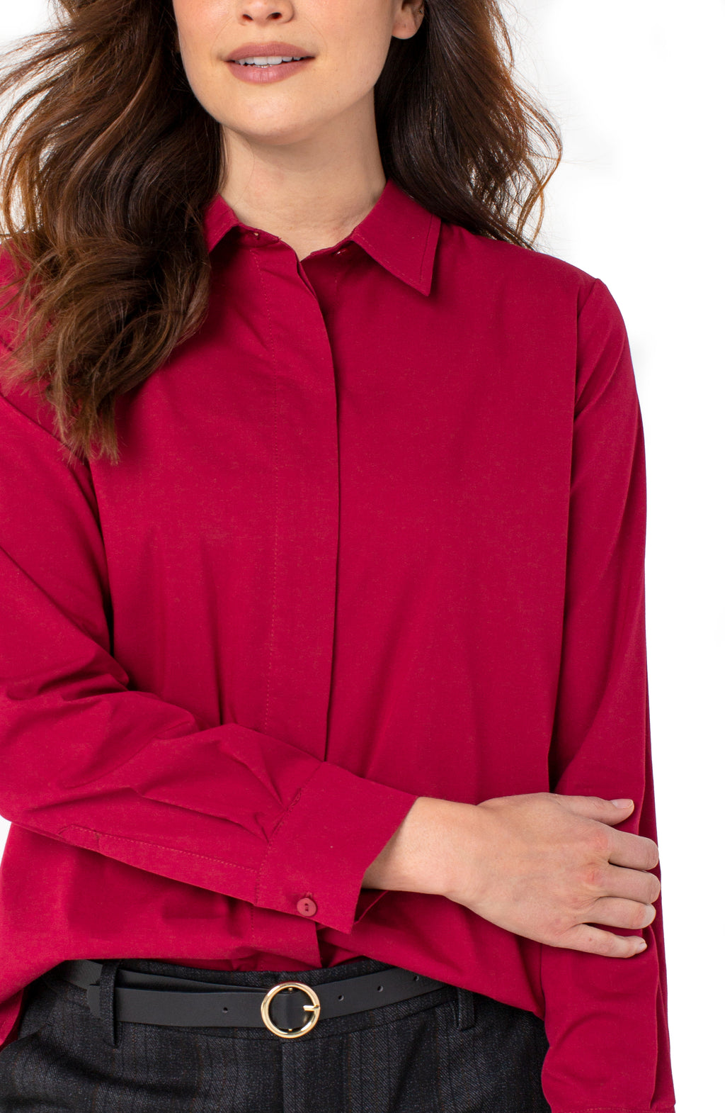 Hidden Placket Blouse
