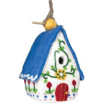 Felted Birdhouses