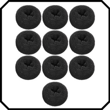Load image into Gallery viewer, 10 pack Extra large black hair donut bun maker ring sponge acccessory black special occassion indian bridal bun