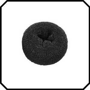 Extra large black hair donut bun maker ring sponge acccessory black special occassion indian bridal bun
